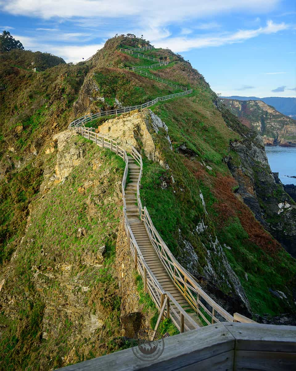 Las pasarelas de la ruta a la Punta Fuciño do Porco