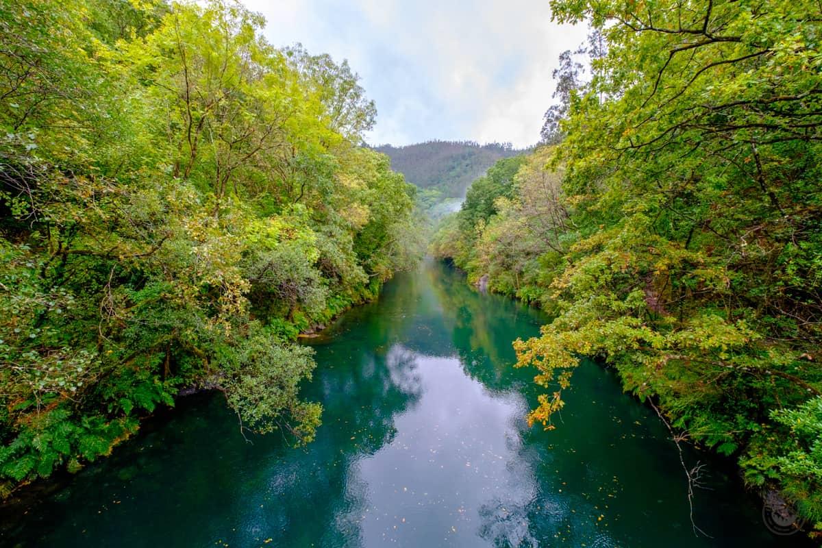 El río Eume con sus aguas crisalinas