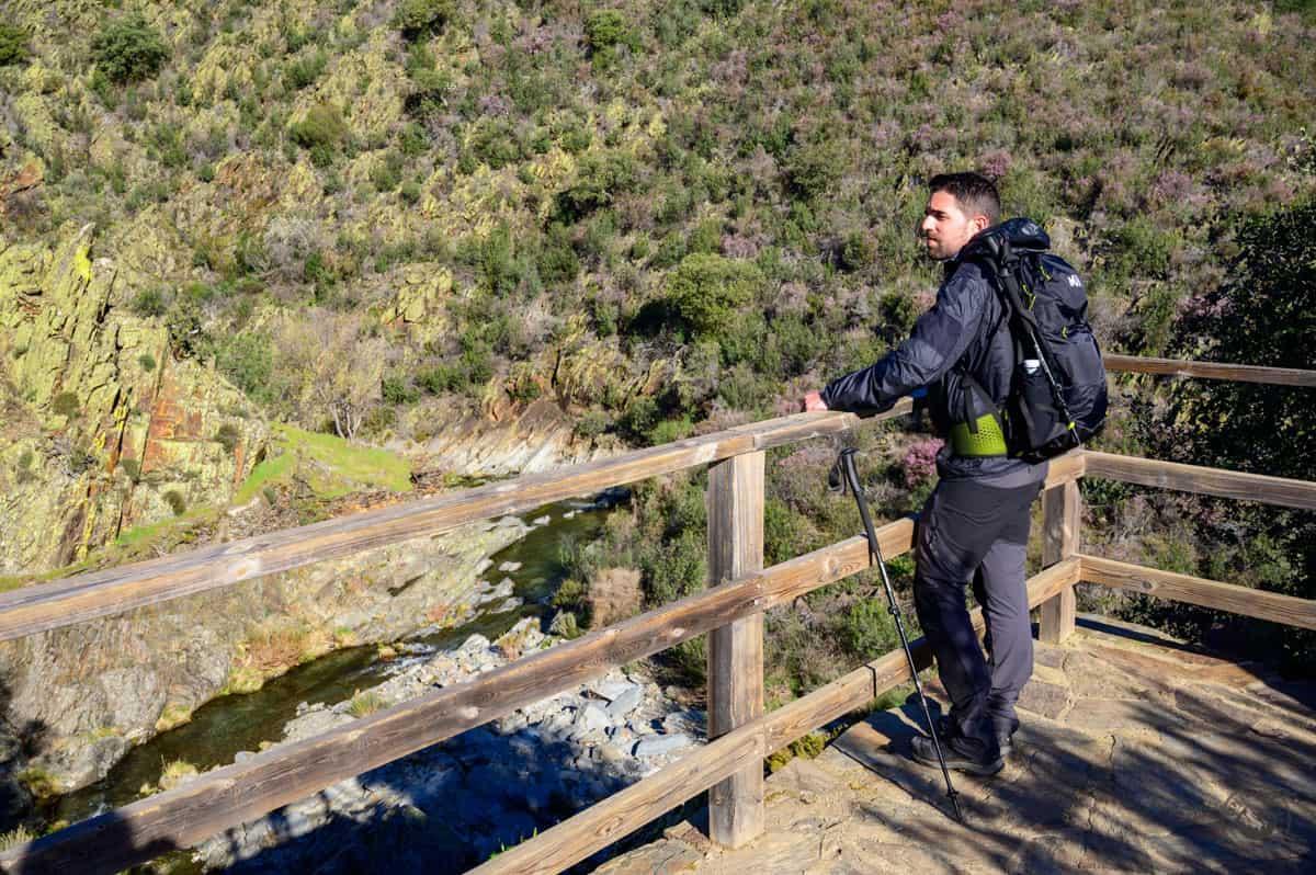 Desde el mirador de la senda al Chorrituelo de Ovejuela